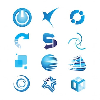 Collection of blue logos