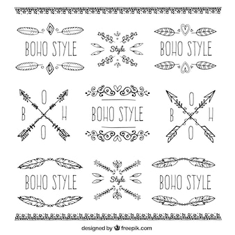 Boho 장신구 및 스티커 컬렉션