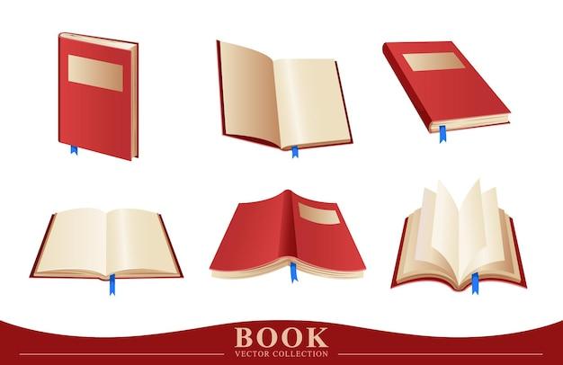 青いリボンの本のコレクション