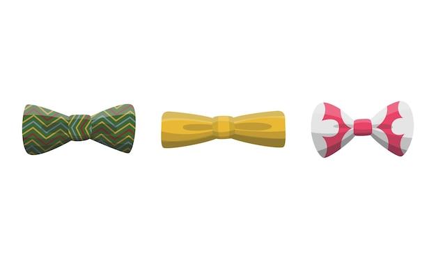 나비 넥타이의 컬렉션입니다. 절연 위에 옷 디자인 요소