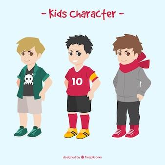 カジュアルな服を着て少年たちのコレクション