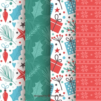 Collection of bright christmas patterns