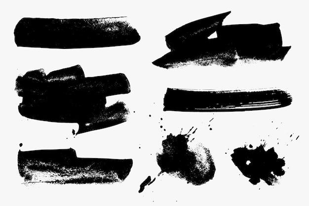 Коллекция мазков, изолированные на белом фоне