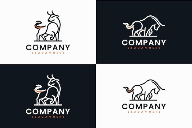 Коллекция шаблона быка, вдохновение для дизайна логотипа
