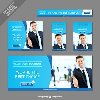 Collection of business banners