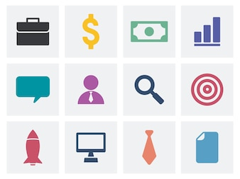 Collection of business icons illustration