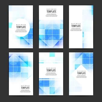 파란색 도형으로 비즈니스 템플릿 컬렉션
