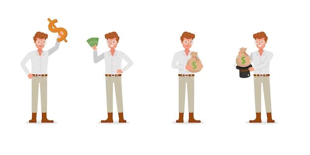 Коллекция бизнесмен, работающих