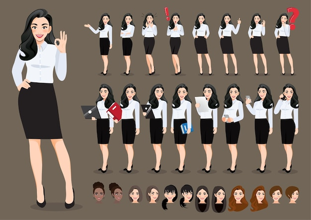 사업가 만화 캐릭터의 컬렉션