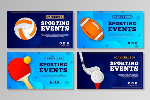 キャンセルされたスポーツイベントのコレクション