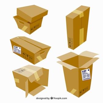 배송 골판지 상자의 수집