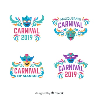 Collection of carnival labels