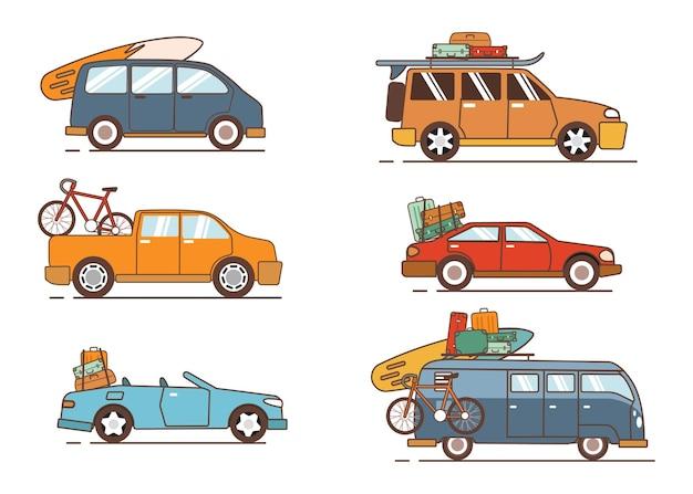 휴가에 사용되는 자동차 컬렉션