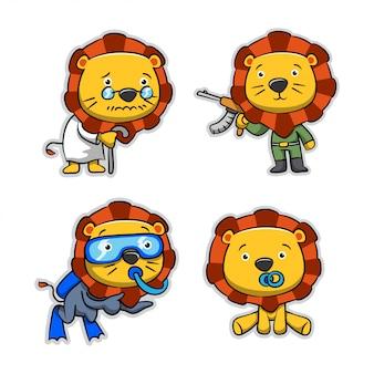 漫画のライオンのコレクション