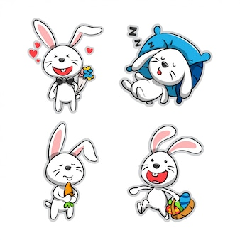 漫画のウサギのコレクション