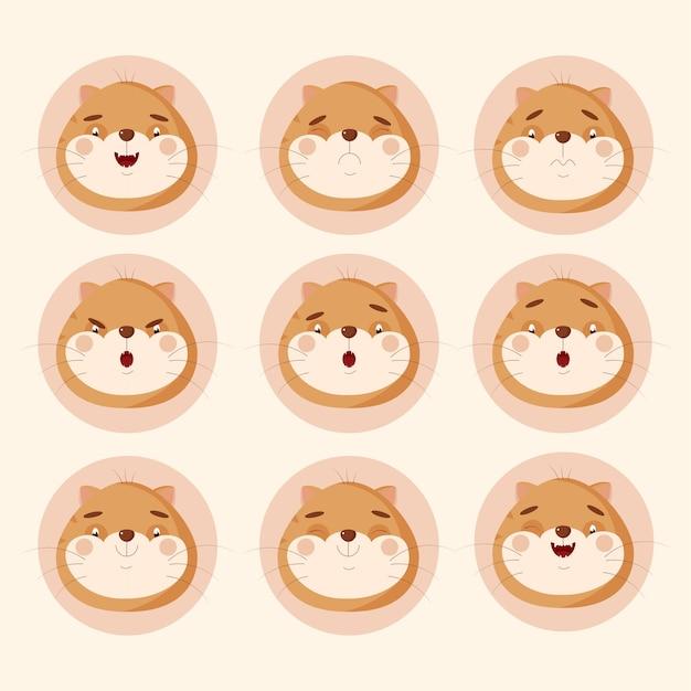 고양이 감정 스티커 모음