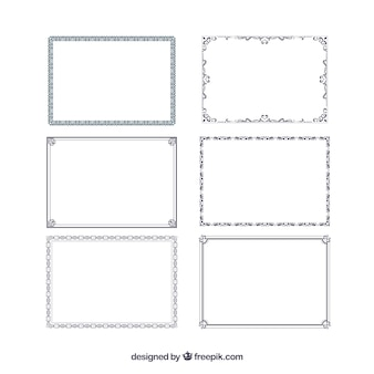 Collection of certificate frames