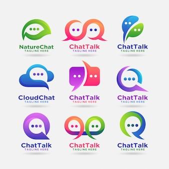 Коллекция дизайна логотипа чата