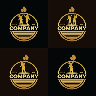 Коллекция дизайна логотипа детской мечты