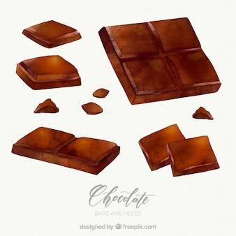 Коллекция шоколадных батончиков