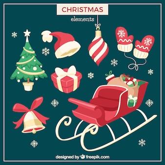 크리스마스 요소의 컬렉션