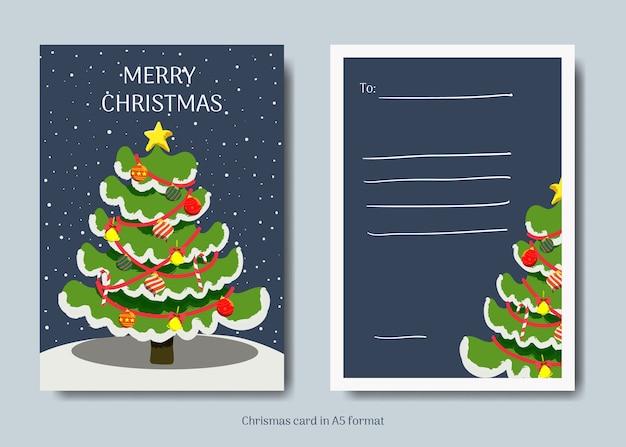 クリスマスグリーティングカードのコレクション