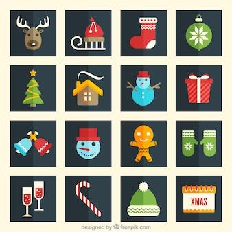 Коллекция рождественские иконки