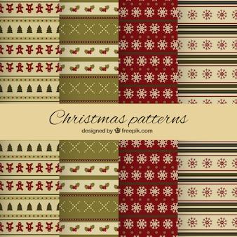 クリスマスのパターンのコレクション