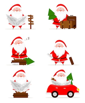 Коллекция рождественских путешествий санта-клауса