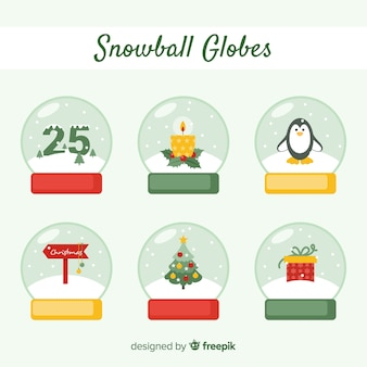 クリスマススノーボールグローブのコレクション