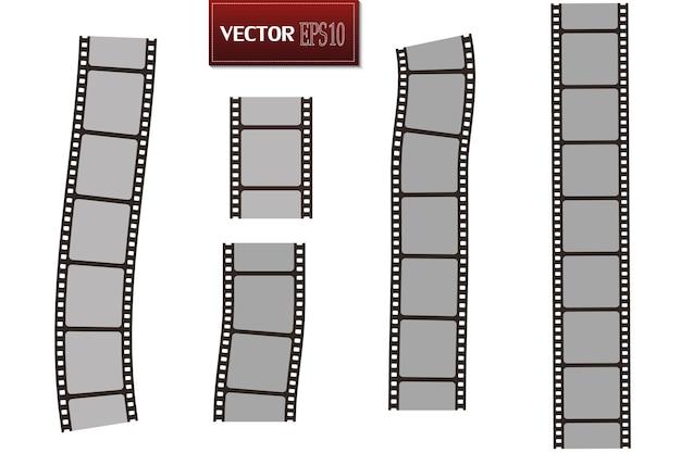 흰색 절연 영화 요소 컬렉션