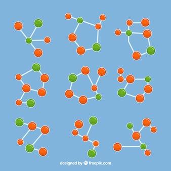 유색 분자 구조의 수집
