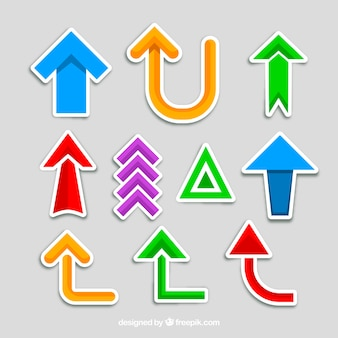 Collection of colorful arrow sticker