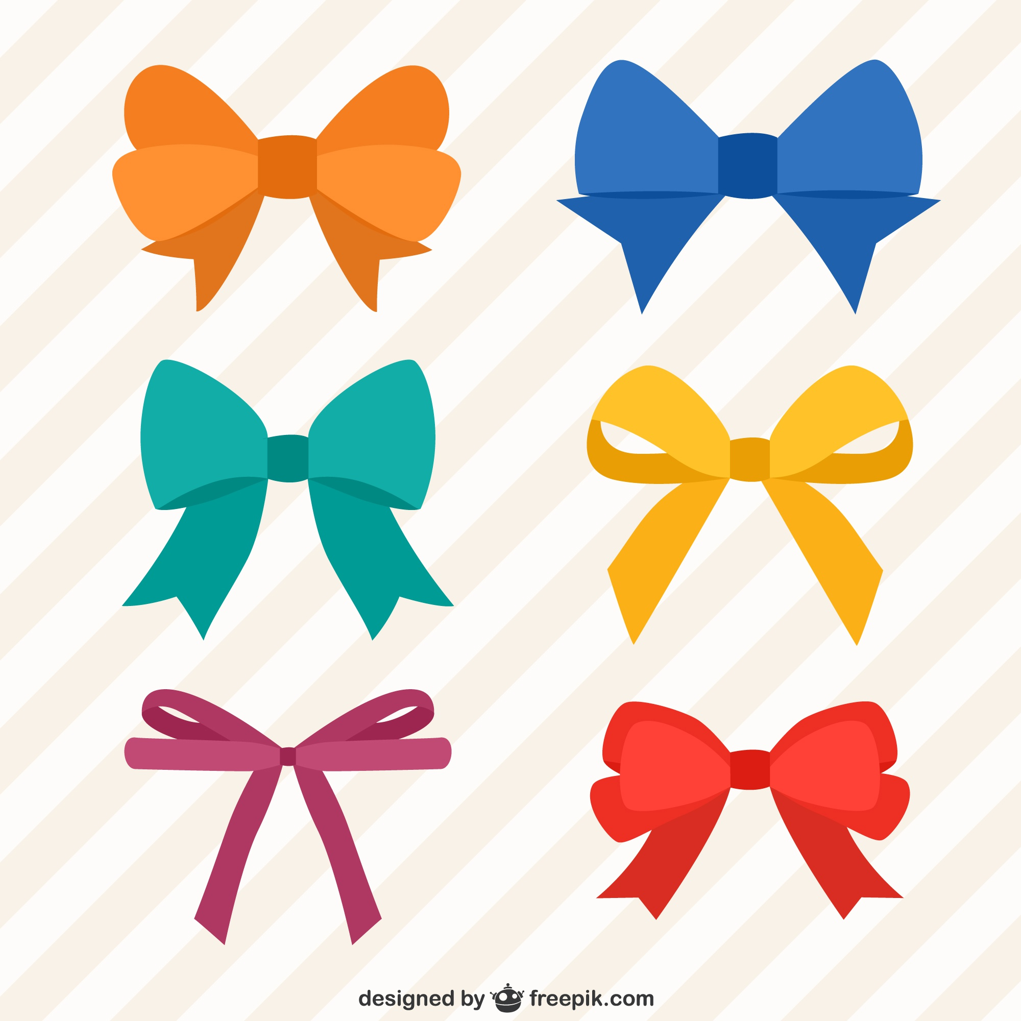 Collection of colorful bows