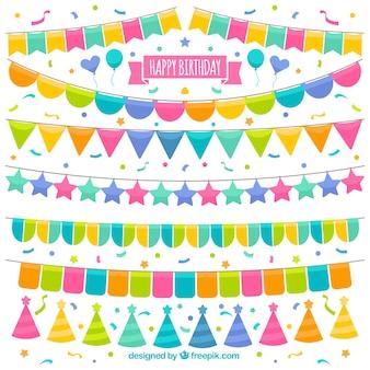생일 화려한 화환의 컬렉션