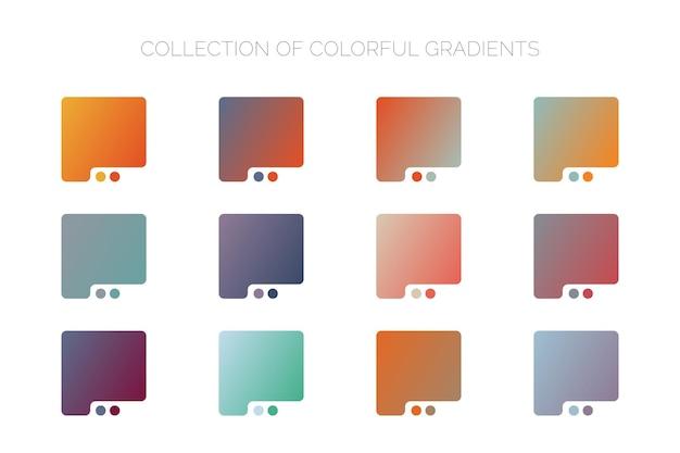 다채로운 그라데이션 배경 컬렉션