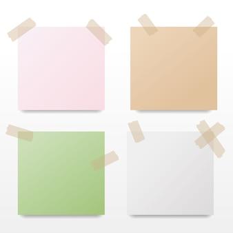 다채로운 메모 지의 컬렉션입니다. 벡터 일러스트 레이 션.