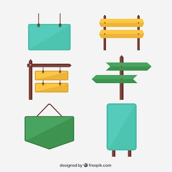 Collection of colorful poster in flat design