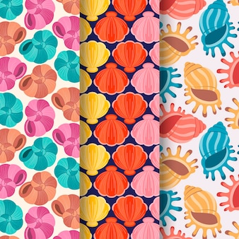 Коллекция красочных бесшовные ракушки