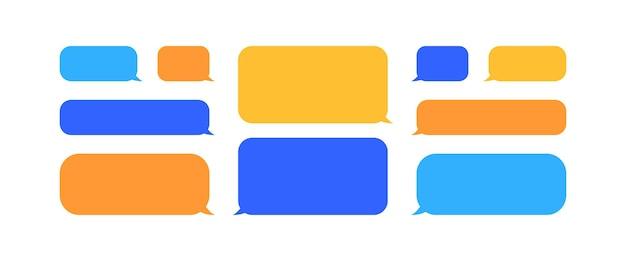 다채로운 연설 거품과 대화 기호의 컬렉션입니다. 벡터 eps10