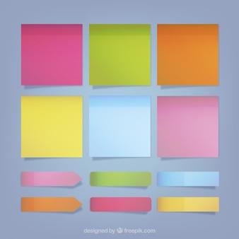 Коллекция красочных стикеров