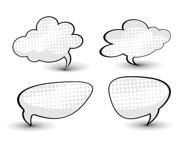 흰색 배경에 고립 된 만화 디자인 요소 아이콘 벡터 일러스트 레이 션의 컬렉션
