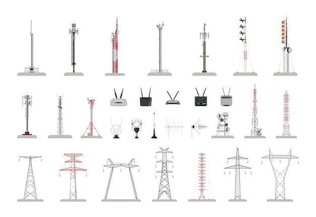 通信とインターネットタワーのコレクション