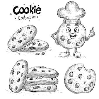 손으로 그린 쿠키 컬렉션