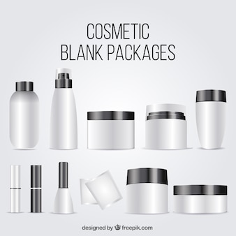 Collection of cosmetic blank package