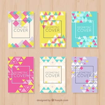 Collection of covers with geometric shapes