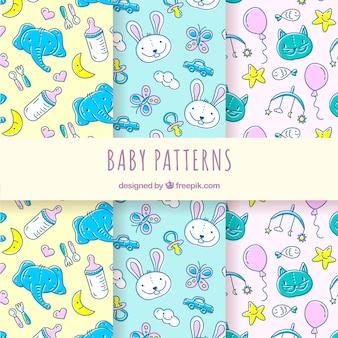 創造的な赤ちゃんのパターンのコレクション