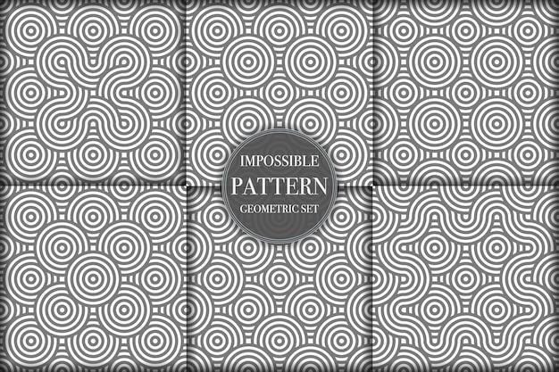 창의적인 기하학적 패턴 배경 모음