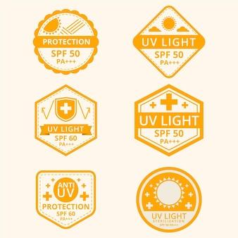 クリエイティブな紫外線バッジのコレクション