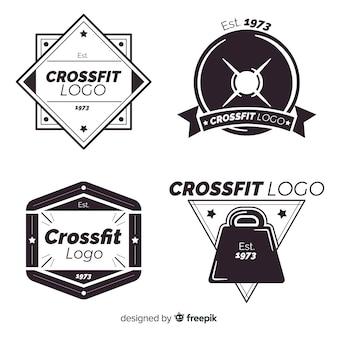 Crossfitロゴフラットスタイルのコレクション